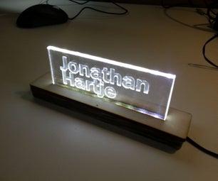 Design and Build a Side-lit LED Sign at TechShop