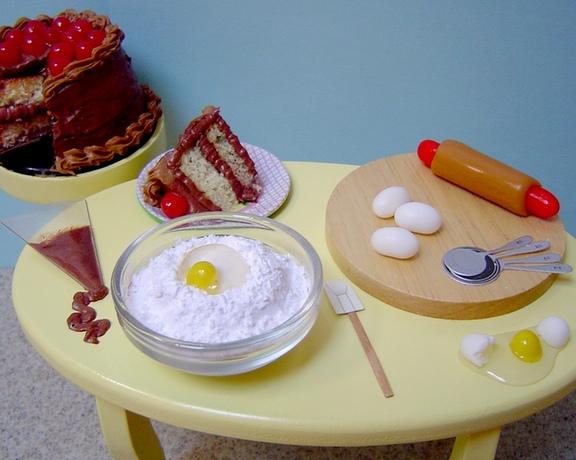 Miniature Edible Baking Scene