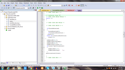 Write the Code in While Loop Inside Main.c File. Refer the File Attached