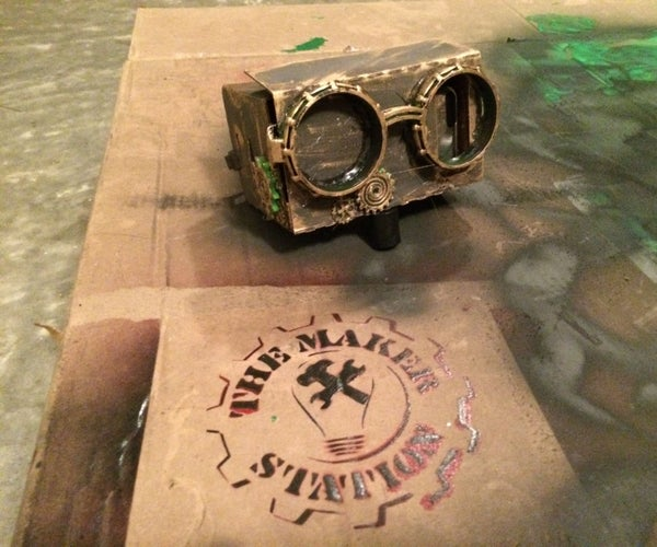 SteamPunk DodoCase VR Goggles Build Night