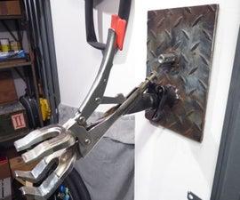 壁挂式自行车修理站和重型夹钳