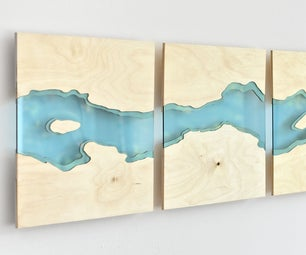 Laser Cut River Wall Art