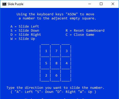 Virtual Slide Puzzle