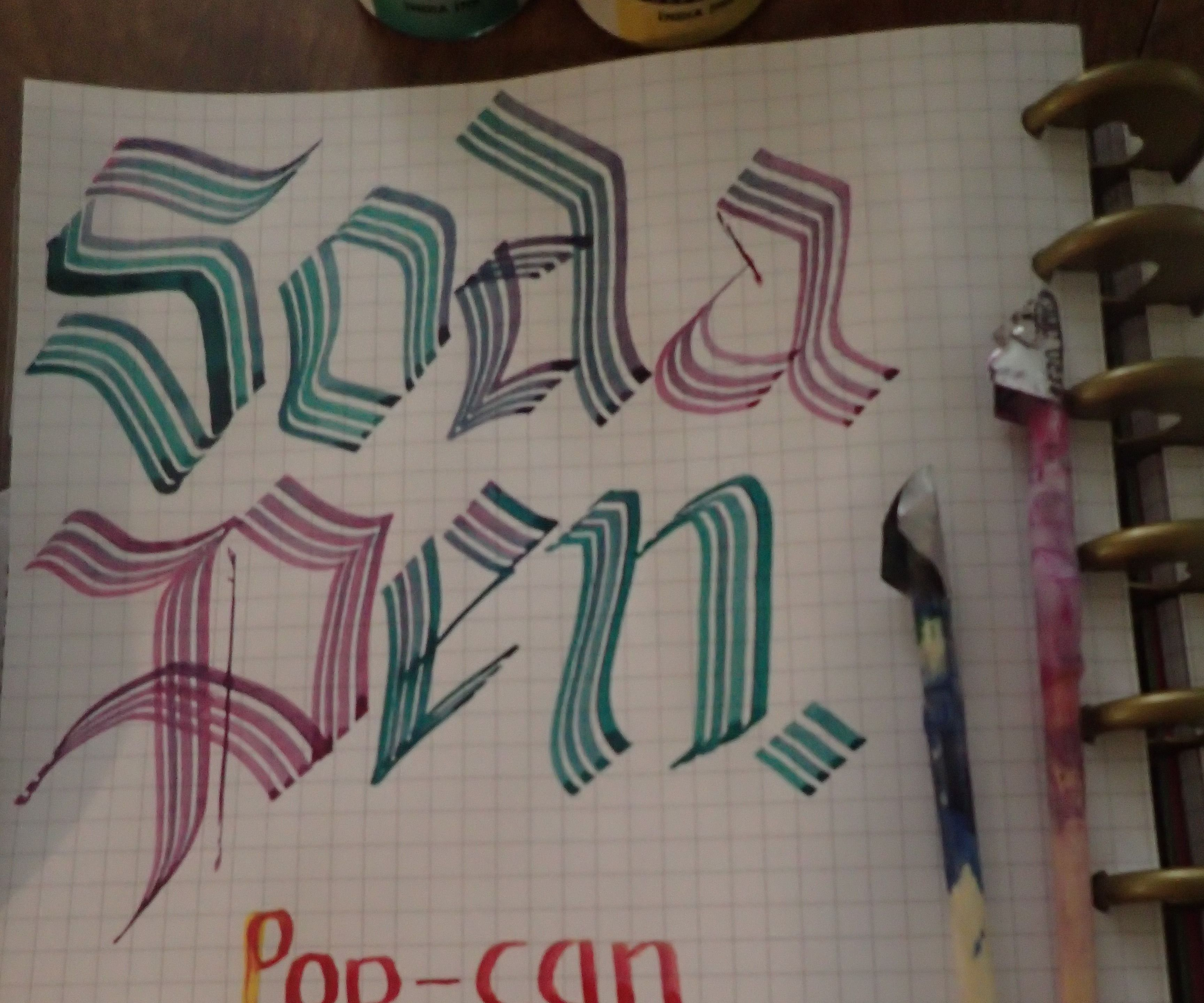Pop-Can Calligraphy Pens