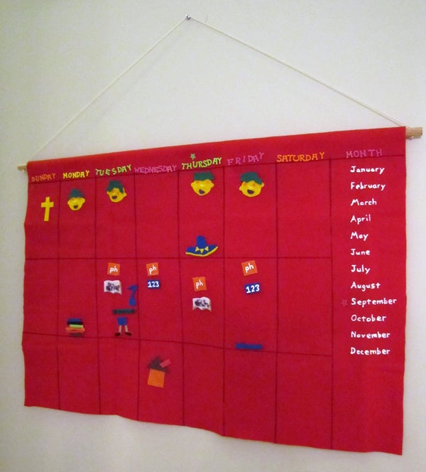 Visual Felt Calendar