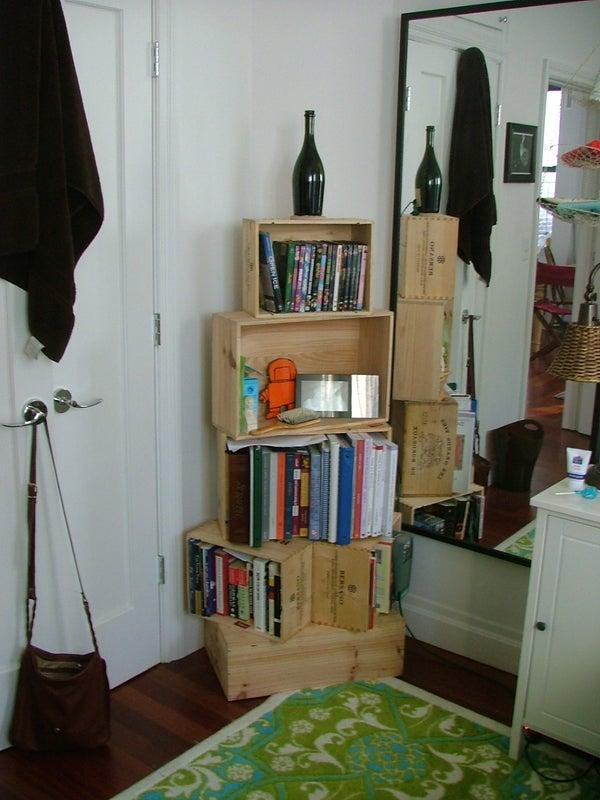 Wine Crate Bookshelf