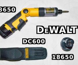 Convert DeWalt Cordless Screwdriver Battery to 18650 Cell