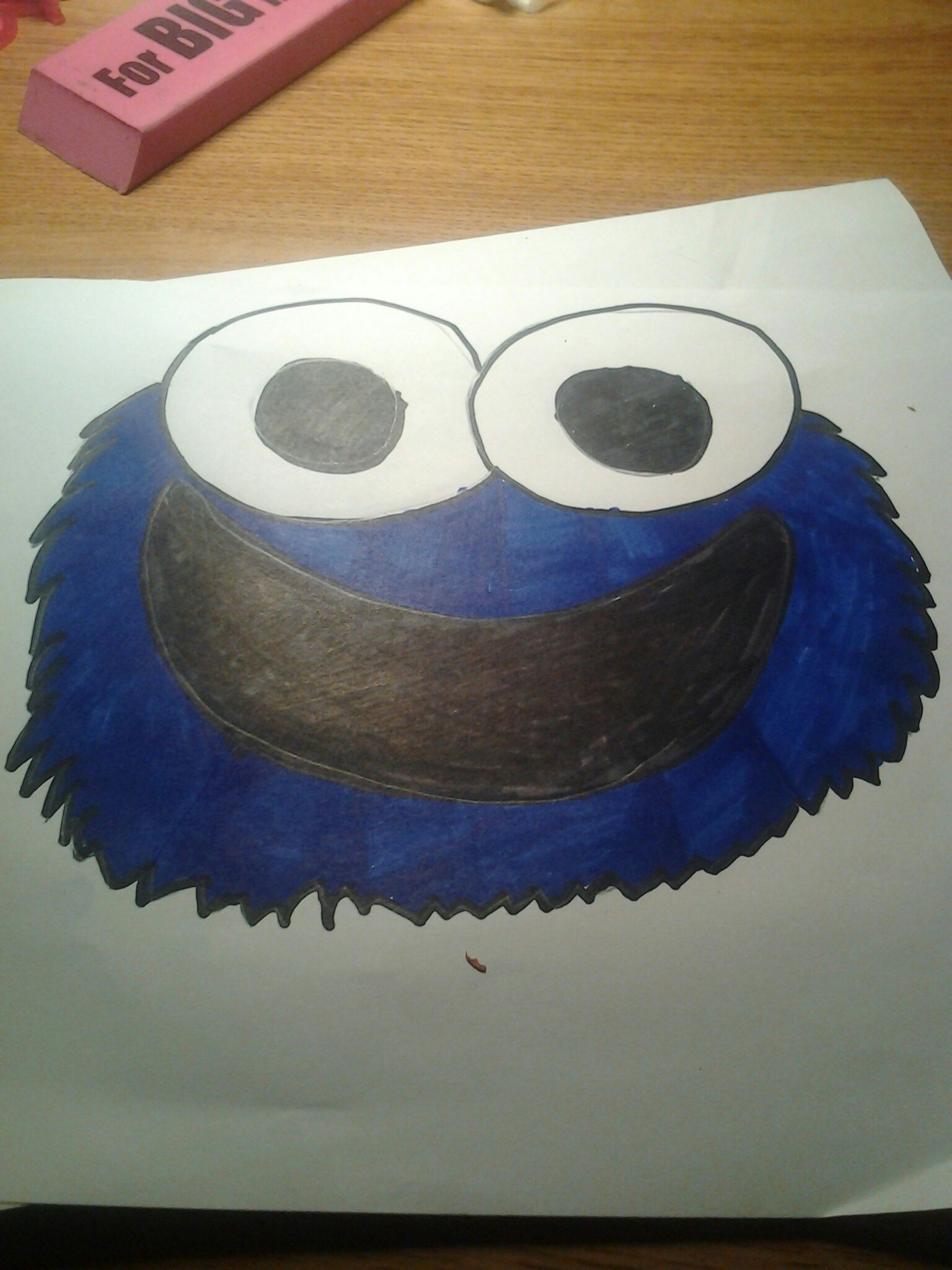 How how to draw a cute Cookie Monster, And Color Steps