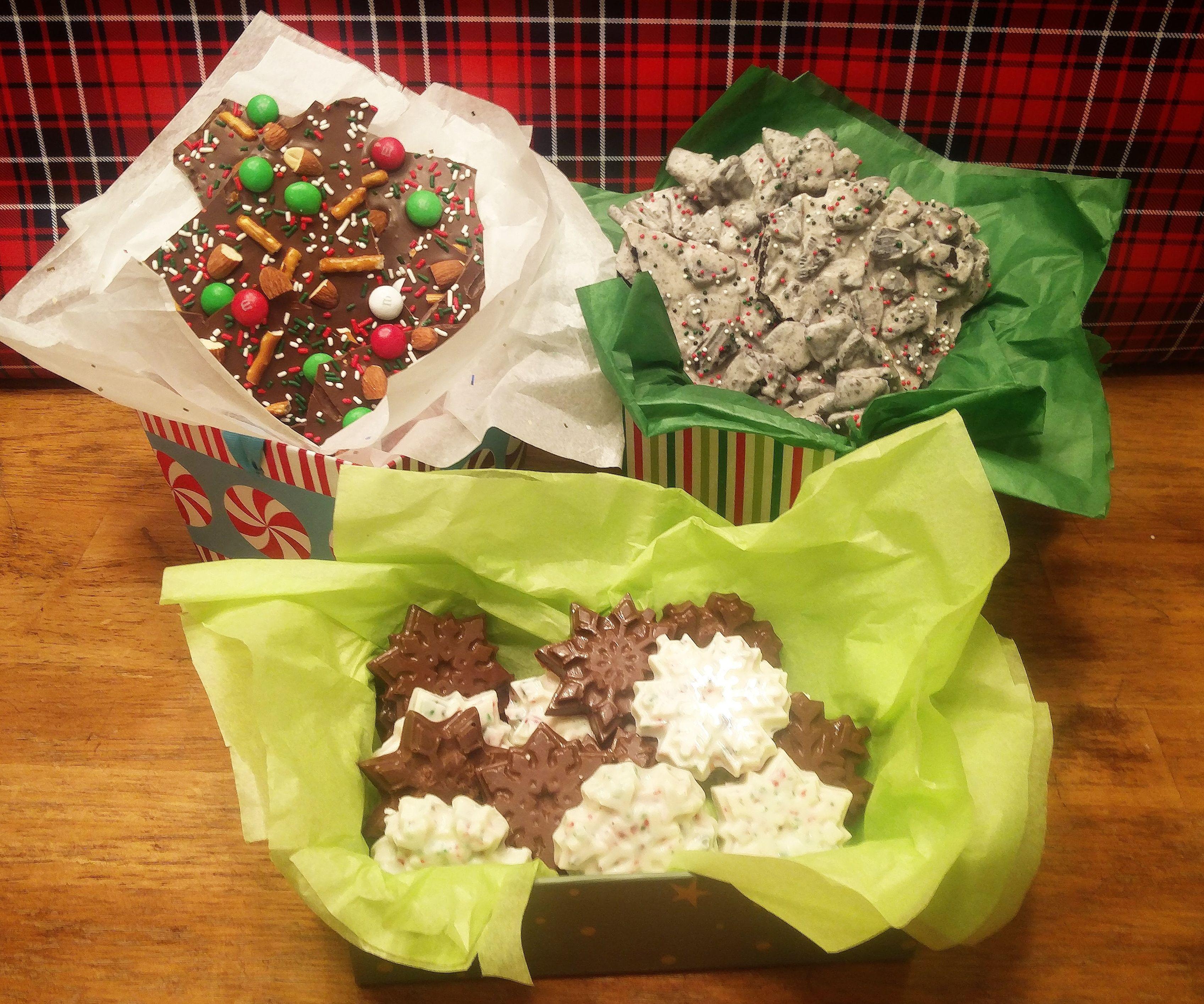 Chocolate Bark Four Ways