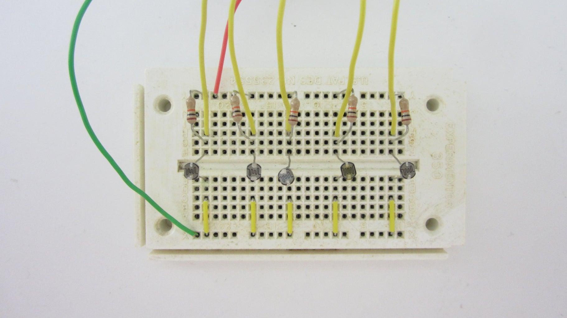 Setup the Light Sensor Array on a Breadboard