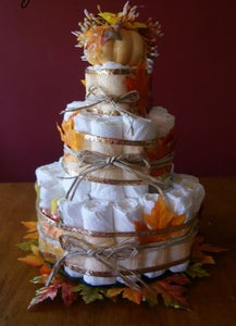 Fall Baby Shower Diaper Cake Picture Tutorial