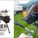 Make a Frontier stove from a gas bottle