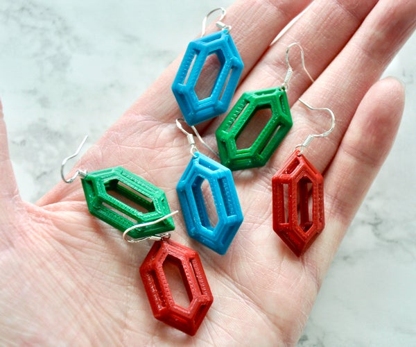 3D Rupee Earrings