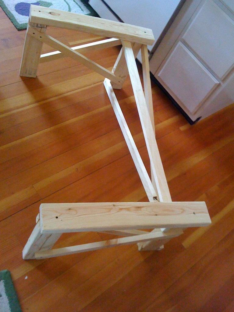 Cut 2x4 Legs and Platform