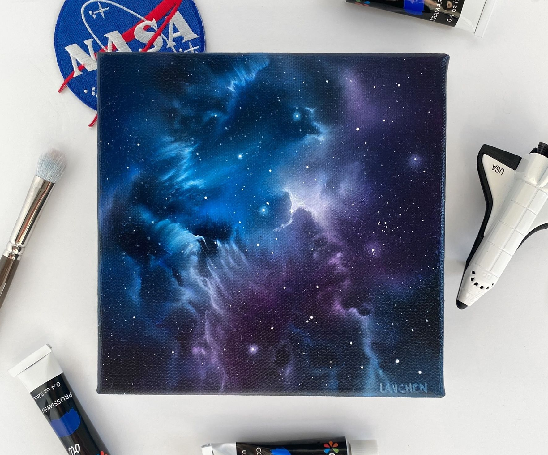 """Creating Galaxy Art With """"Lanchen Designs"""""""