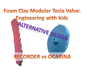Make a Modular Tesla Valve Out of Foam Clay - a Good Way to Demonstrate Engineering and Physics of Fluids to Kids - OCARINA DESIGN