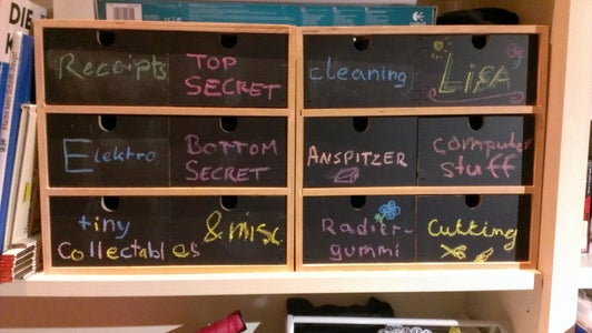 Label a Cupboard With Chalk