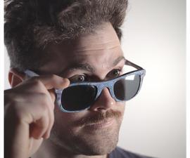 Making Damascus Micarta + Sunglasses