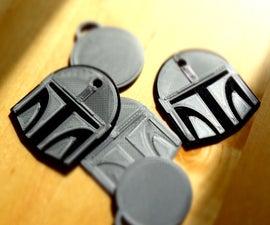 "DIY NFC Tag Cover ""The Mandalorian""-Helmet"