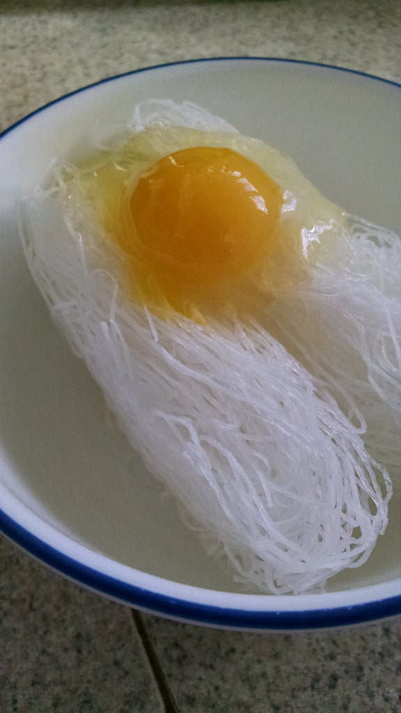 Lay Out the Noodles and the Raw Egg