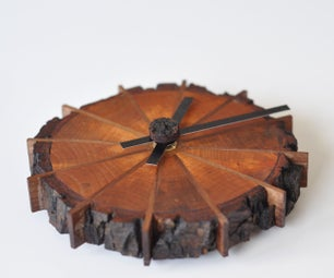 A Natural Edge Shop Clock