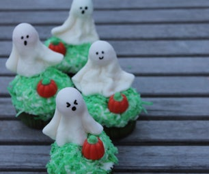 Haunted Pumpkin Patch Ghost Cupcakes!