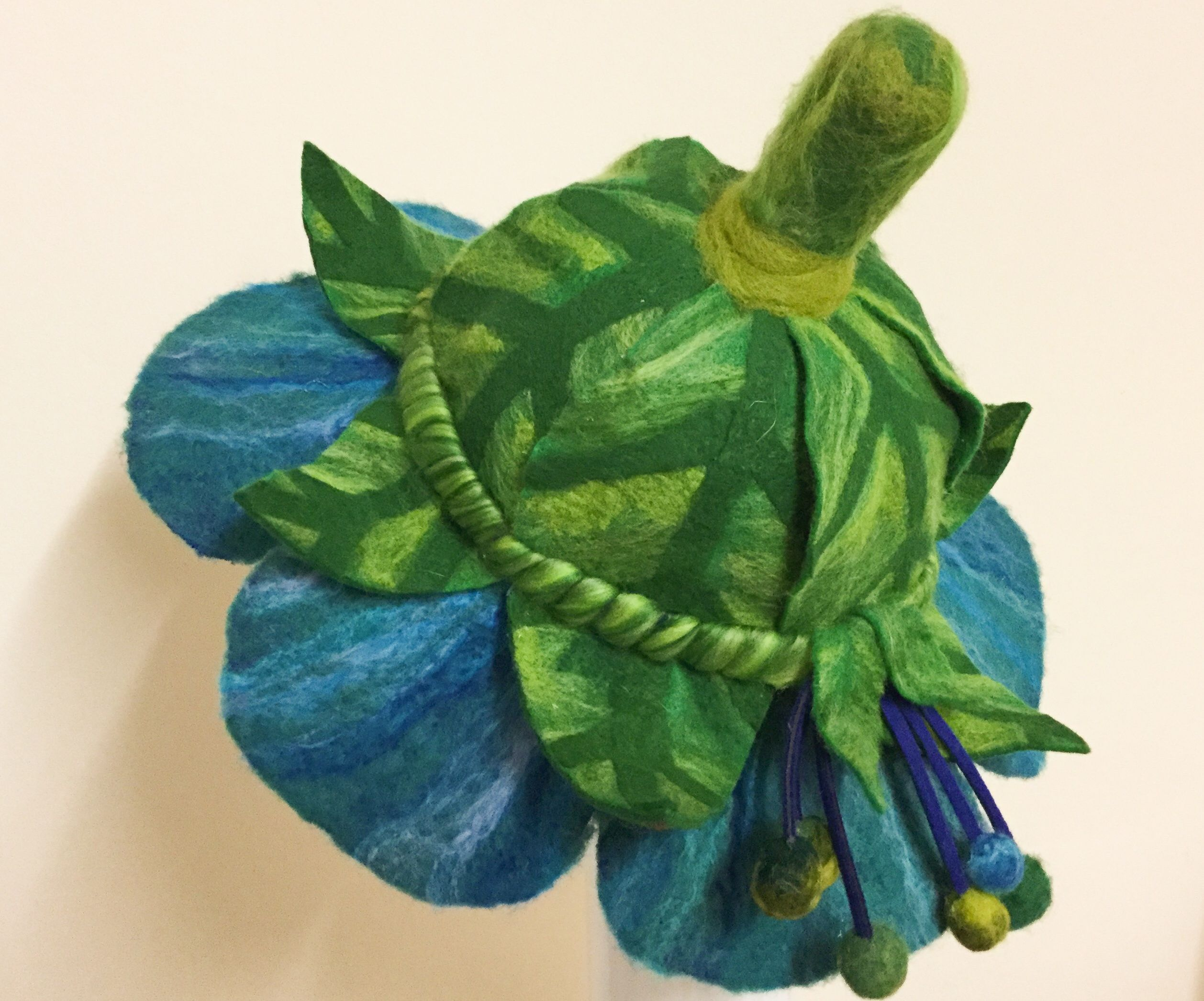 Felted Flower Fairy Hat