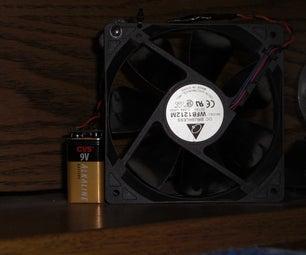 Super Easy Battery Powerd Computer Fan