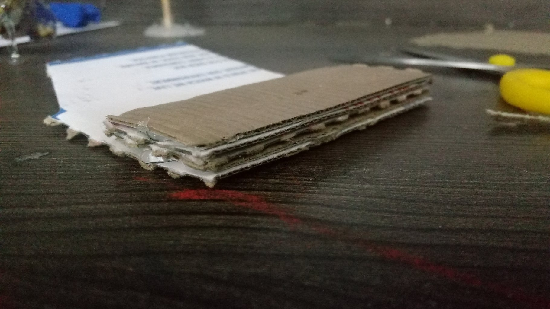 Stack a Few Cardboard Surfaces for Stiffness.