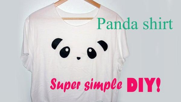 DIY Cute Panda Shirt! (super Simple)