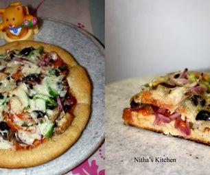 Veg Wheat Pizza - Step 1
