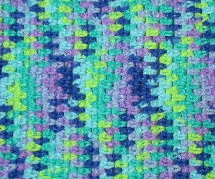 Crochet Stitch Yarn Pooling