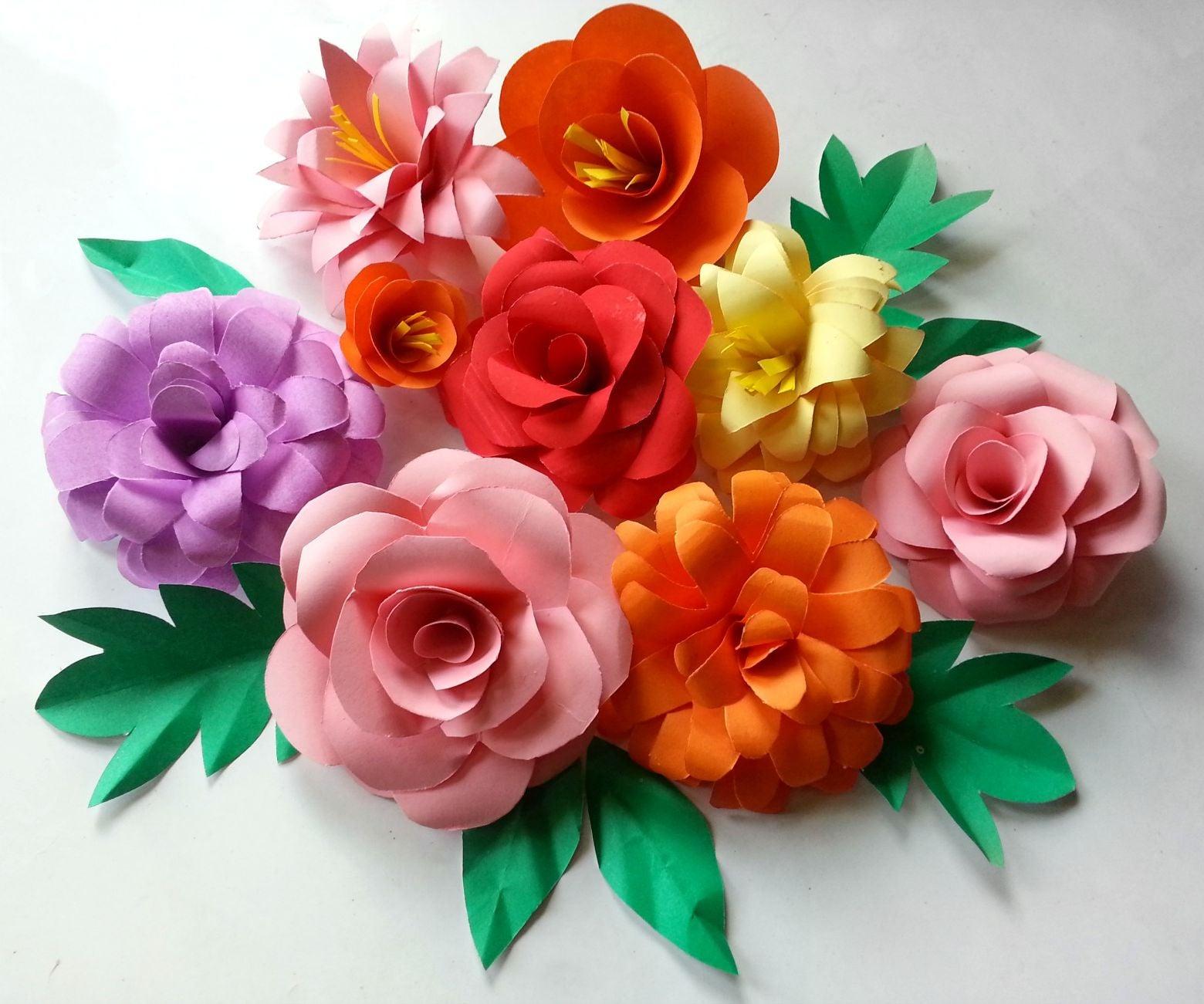 diy paper flowers folding tricks  5 steps with