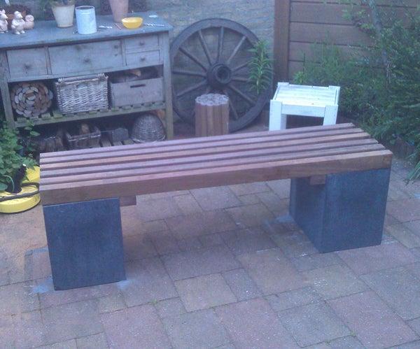 Durable Hardwood Bench