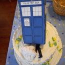 TARDIS Bridal Shower Cake