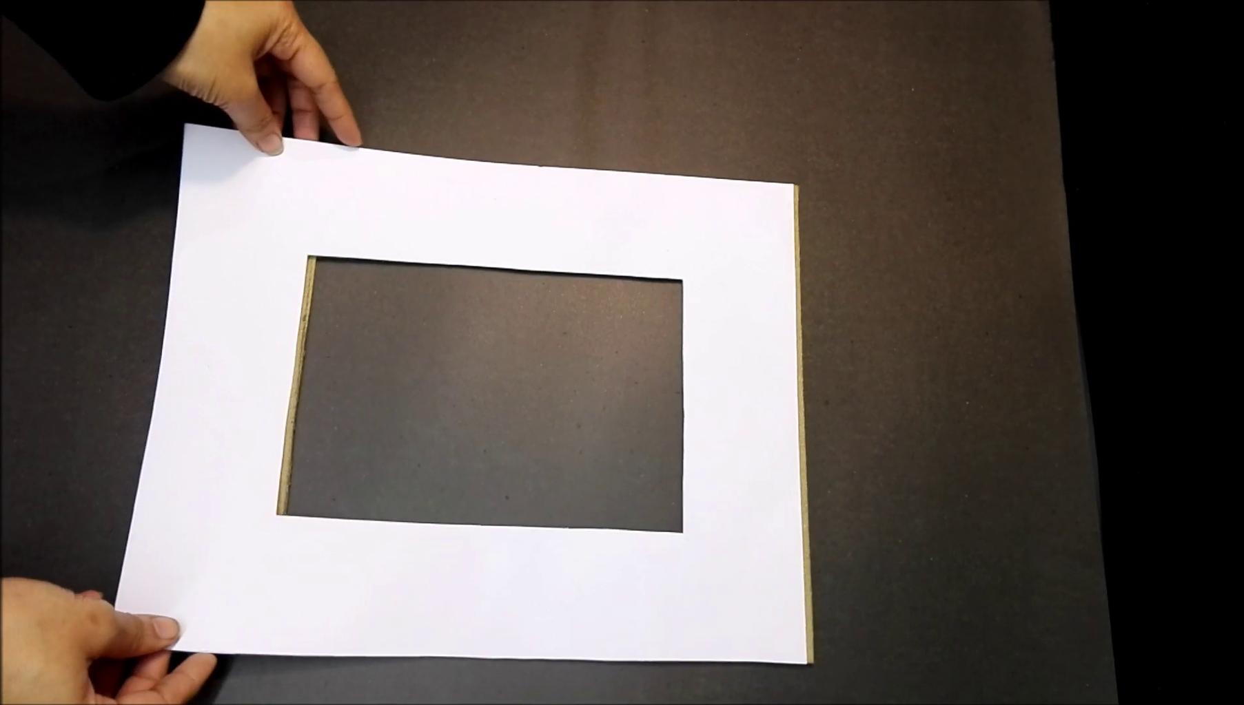 Making of Cardboard Frame.