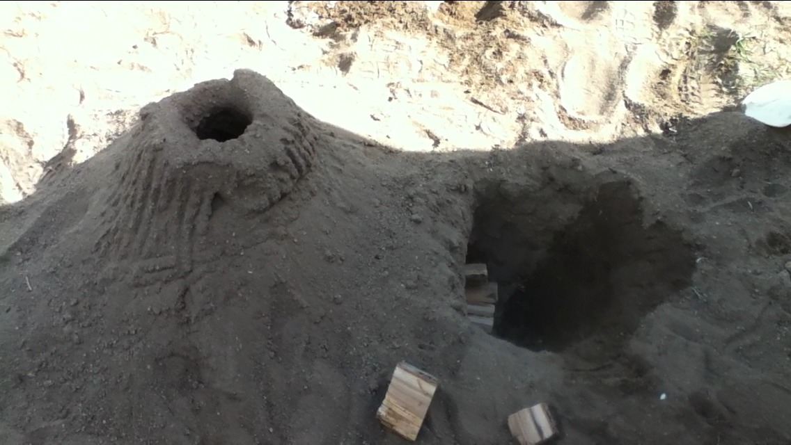 Sand Rocket Stove