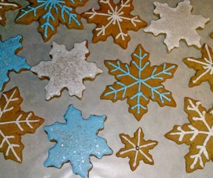 Easy Iced Gingerbread Cookies