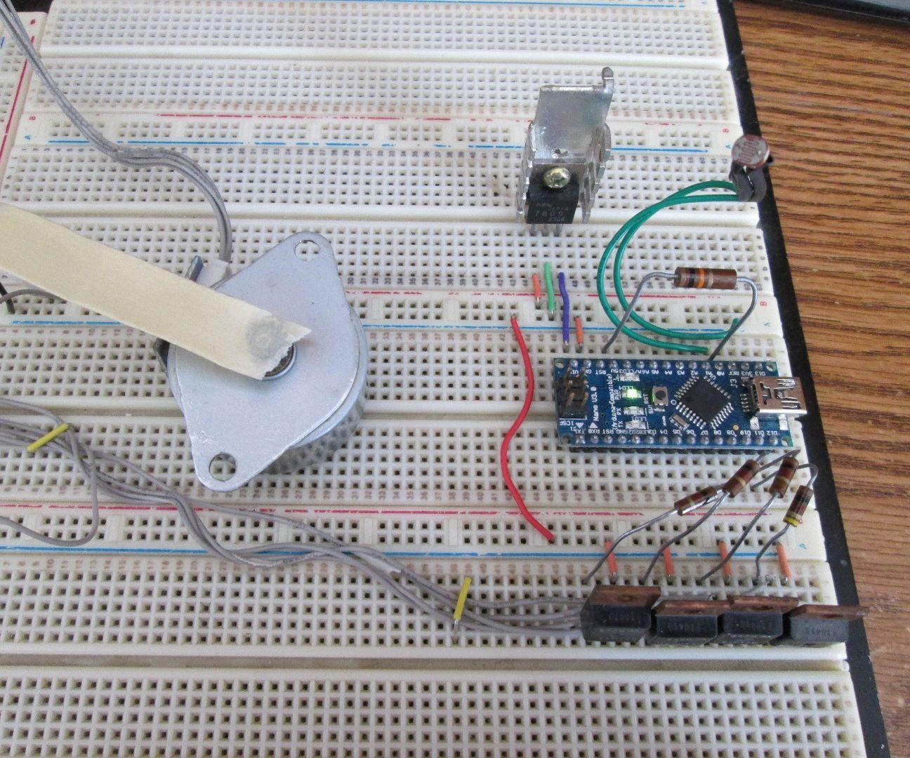Arduino Light Sensitive Stepper Motor