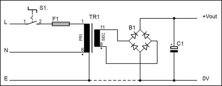 Design of an Unregulated Power Supply
