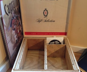 DVD Case Made From Wooden Wine Boxes