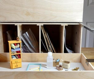 DIY 3-Tier Plywood Stacking Box for Hobby Supplies