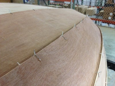 Reinforcing the Hull Joints...