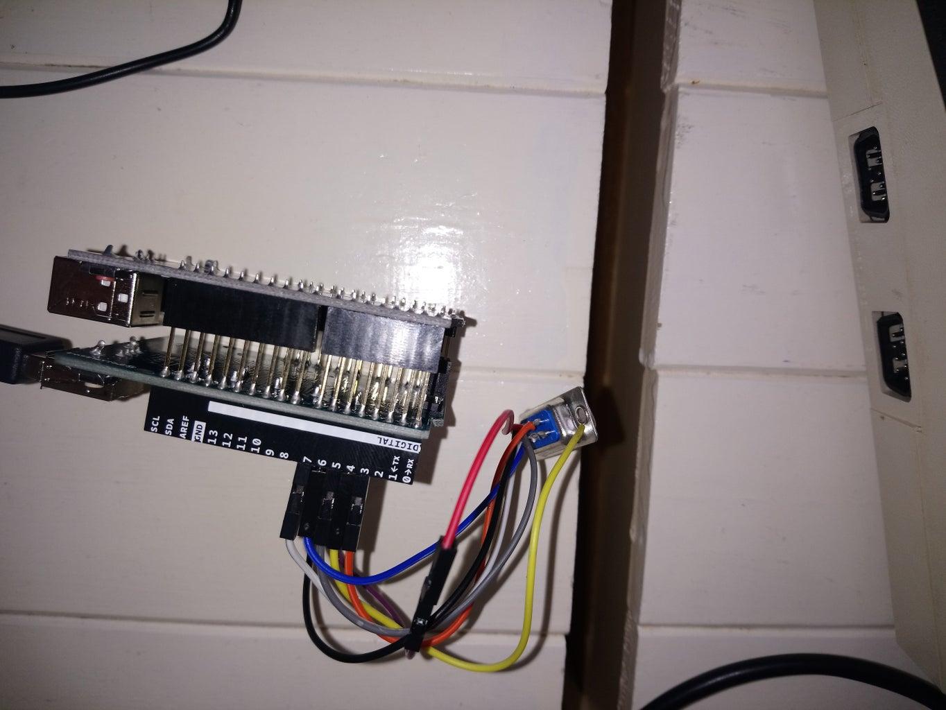 1) Attach the USB Shield