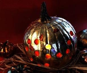 Gold Pumpkin Lantern