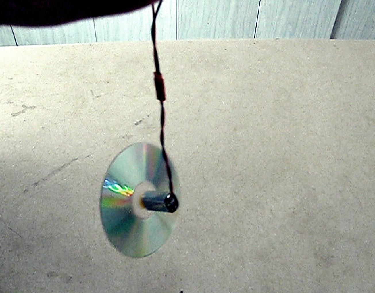 Make a Simple Motorized CD Gyroscope