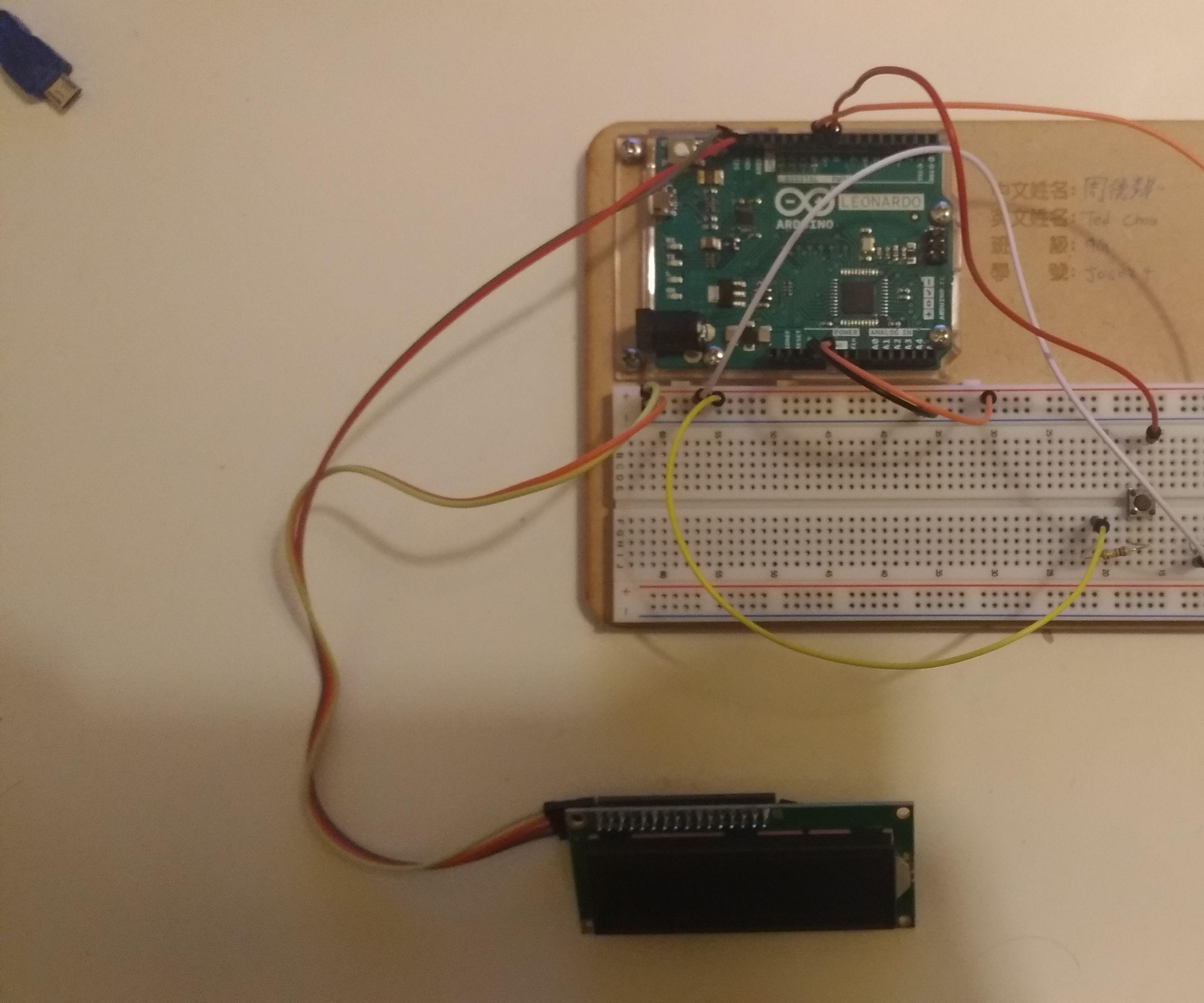Arduino Leonardo Stopwatch