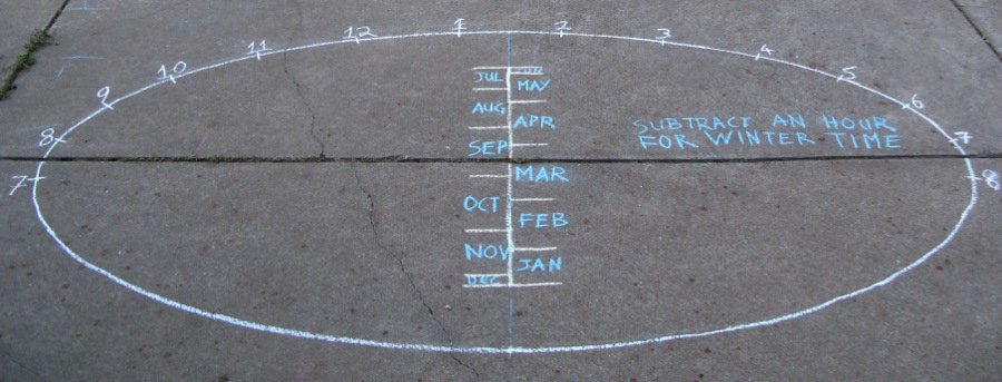 Large driveway, patio or garden sundial