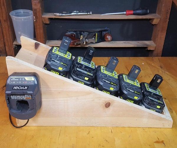 Battery Slide (Slanted Cordless Drill Battery Holder)