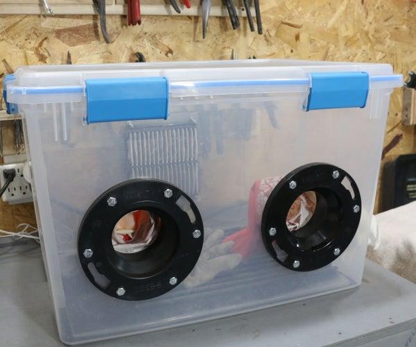 DIY Sandblasting Cabinet and Etching Glass
